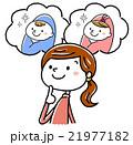 イラスト素材:妊婦と生まれてくる子供 21977182