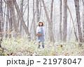 山菜採り 女性 林の写真 21978047