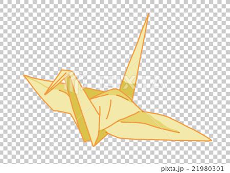ハート 折り紙 : 折り紙 鶴 イラスト : pixta.jp