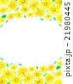ひまわり 花柄 フレームのイラスト 21980445