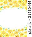 ひまわり 花柄 フレームのイラスト 21980446