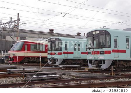 柳川車両基地に留置中の西鉄電車 21982619