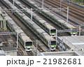 春の東京総合車両センターに留置の山手線 21982681