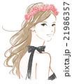 バラの花飾りの女性 21986357