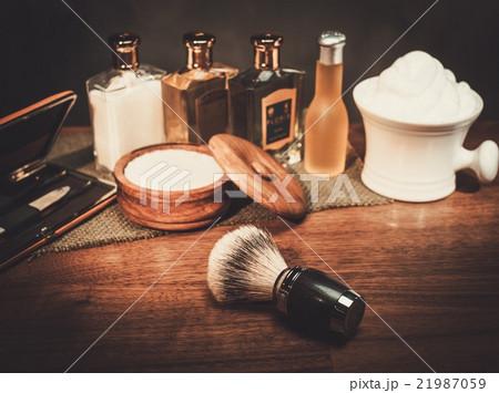 Gentleman's accessories on a luxury wooden boardの写真素材 [21987059] - PIXTA