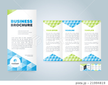 trifold business brochure design templateのイラスト素材 21994819