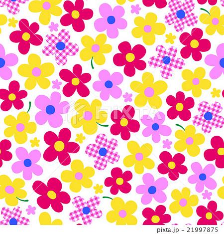 可愛い花パターンのイラスト素材 21997875 Pixta