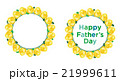花 リース フレームのイラスト 21999611
