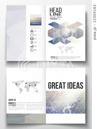 Set of business templates for brochure, magazineのイラスト素材 [22004163] - PIXTA