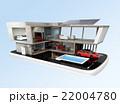 スマートフォンの上にある省エネスマートホーム。スマホアプリによるホームエネルギー管理コンセプト 22004780