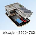 スマートフォンの上にある省エネスマートホーム。スマホアプリによるホームエネルギー管理コンセプト 22004782