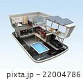 スマートフォンの上にある省エネスマートホーム。スマホアプリによるホームエネルギー管理コンセプト 22004786