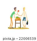 人 女性 りんごのイラスト 22006539