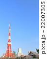 東京タワー ランドマーク 青空の写真 22007305