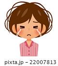 寝癖で悩む女性 22007813
