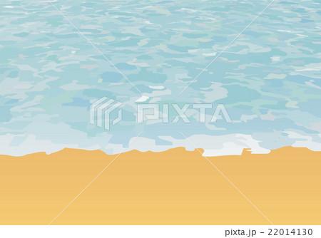 波打ち際のイラスト素材 22014130 Pixta
