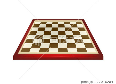 Empty chess board in red and brown designのイラスト素材 [22016284] - PIXTA