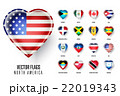 Vector flags icon of the countries North America. 22019343