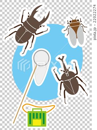 昆蟲採集 矢量 暑假 22022274