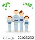家族 全身 浴衣 温泉 イラスト 22023232