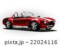 red classic sport car cobra roadster 22024116