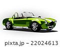 classic sport car cobra roadster green 22024613