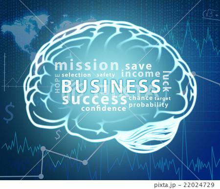 Business word cloud in contour of brainのイラスト素材 [22024729] - PIXTA
