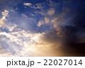 空 夕日 夕焼の写真 22027014