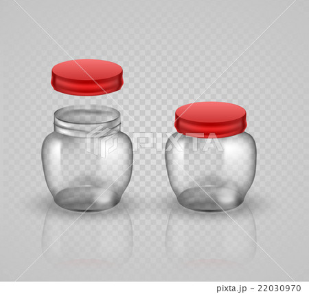 Glass Jars for canning and preserving. With coverのイラスト素材 [22030970] - PIXTA