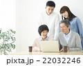 家族 パソコン インターネットの写真 22032246