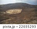 大室山山頂、リフト降り場展望台から見た噴火口(超広角撮影) 22035293