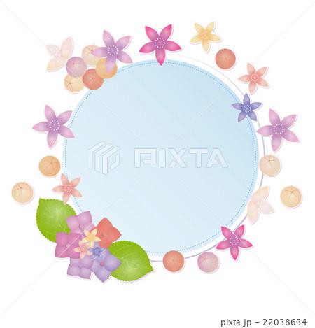 6月フレーム あじさいのイラスト素材 22038634 Pixta
