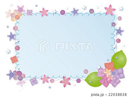 6月フレーム アジサイのイラスト素材 22038638 Pixta