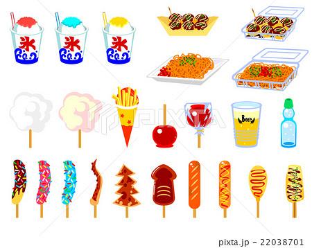 お祭り食べ物 22038701