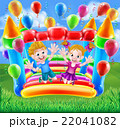 Kids Jumping on Bouncy Castle 22041082