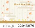 年賀状 鳥 アヒルのイラスト 22043079