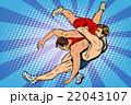 レスリング レスラー レスリング選手のイラスト 22043107