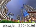 高層ビル 夜景 新宿の写真 22049196