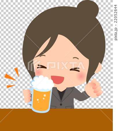 微笑女商人喝啤酒 22052644