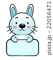 Rabbit Character is holding a board of both hands. 22056471
