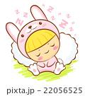 Rabbit Character is sleeping.  Asian Zodiac Mascot 22056525