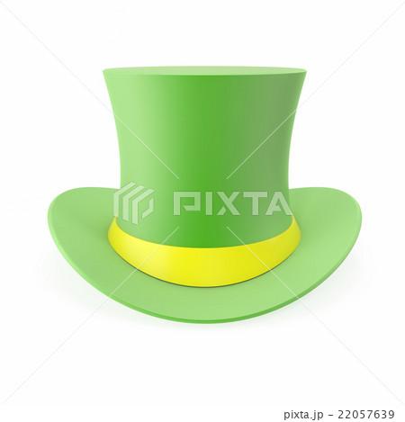 Green Top Hat, St Patricks hat. Isolated on whiteのイラスト素材 [22057639] - PIXTA