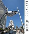 帆船日本丸の総帆展帆・満船飾と、青空を泳ぐ鯉のぼり 22059551