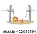 断線 電線 電柱【災害・シリーズ】 22062394