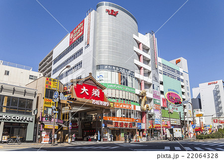 大須万松寺通りアーケード街入り口風景 22064328
