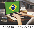 Brazil National Flag Business Communication Connection Concept 22065747