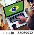 Brazil National Flag Business Communication Connection Concept 22069932