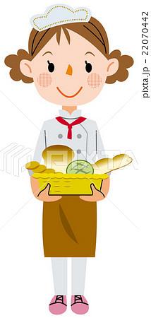 いろいろな仕事 パン屋さんのイラスト素材 22070442 Pixta