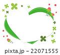 ハート フレーム 花のイラスト 22071555