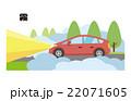 霧 濃霧 自動車 車 車道 22071605